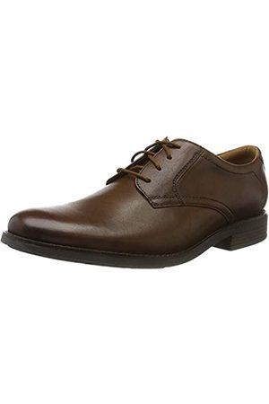 Clarks Men Brogues - Men's Becken Lace Brogues, (Dark Tan Leather)