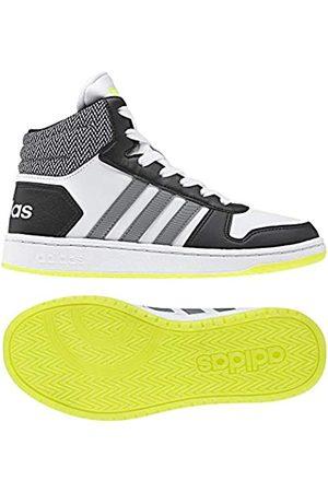 adidas Boys Shoes - Unisex Kids' Hoops Mid 2.0 Basketball Shoes, (Ftwwht/Grethr/Cblack 000)