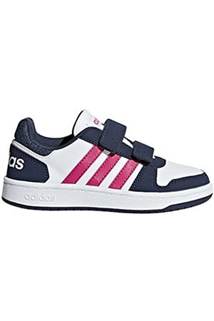 adidas Unisex Kids' Hoops 2.0 CMF Basketball Shoes, (Ftwwht/Reamag/Trablu Ftwwht/Reamag/Trablu)