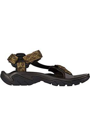 Action Sports (Teva DE) Men's Terra Fi 5 Universal Sandal Sling Back, (Wavy Trail Olive WTOL)