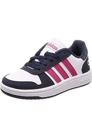 adidas Unisex Kids' Hoops 2.0 Basketball Shoes, (Ftwwht/Reamag/Trablu Ftwwht/Reamag/Trablu)