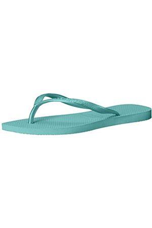 Havaianas Girls' Slim Flip Flops, (Lake )