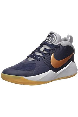Nike Unisex Kids Team Hustle D 9 Basketball Shoes, (Midnight Navy/Metallic Copper/Wolf 402)