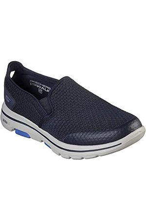Skechers Men's Go Walk 5 Apprize Slip On Trainers, (Navy Textile/Synthetic/ Trim Nvy)