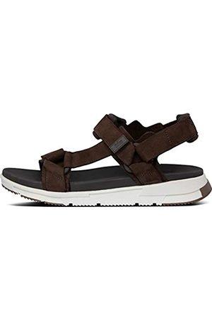 FitFlop Men's Sporty Back-Strap Sandals Flip Flops, (Chocolate 167)