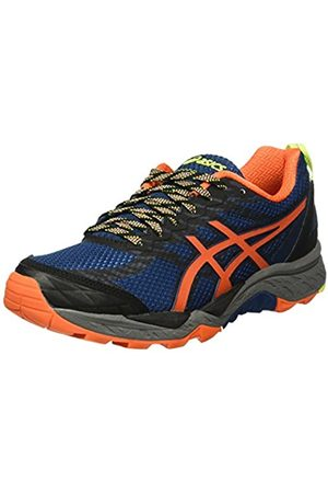 Asics Men's Gel-Fujitrabuco 5 Running Shoes, Multicolor (Poseidon/Flame /Safety )