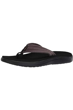 Teva Men's Voya Canvas Flip Open Back Slippers, (Drizzle Driz)