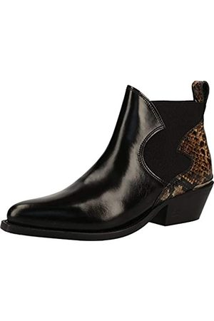SCOTCH & SODA FOOTWEAR Women's Corall Ankle Boots, (Blk+Snake Deco S090)