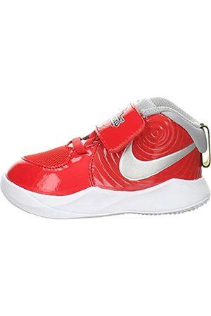 Nike Boys' Team Hustle D 9 Auto (td) Basketball Shoe, University /Metallic -Wolf Gray