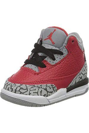 Nike Boys' Jordan 3 Retro Se (td) Basketball Shoe, Fire /Fire -Cement