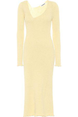 Jil Sander Wool-blend midi dress