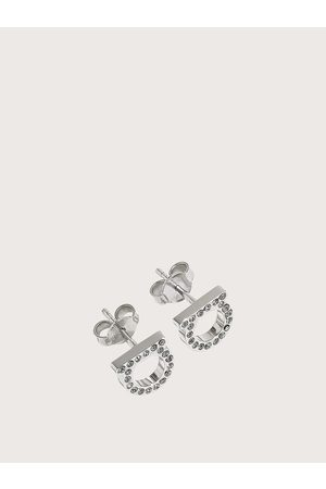 Salvatore Ferragamo Women Small Gancini crystal earrings