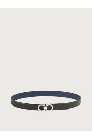 Salvatore Ferragamo Men Reversible and adjustable Gancini belt Multicolor