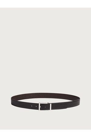 Salvatore Ferragamo Men Reversible and adjustable belt with rectangular buckle