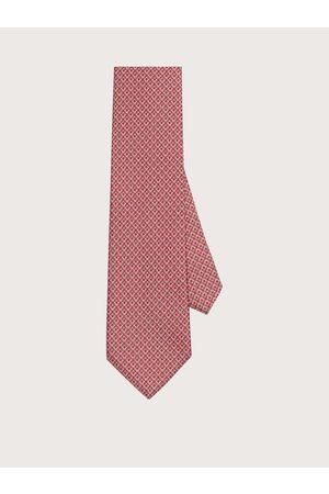 Salvatore Ferragamo Men Silk tie with printed Gancini