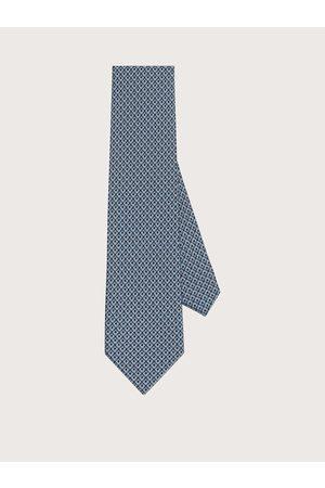 Salvatore Ferragamo Men Bow Ties - Men Silk tie with printed Gancini