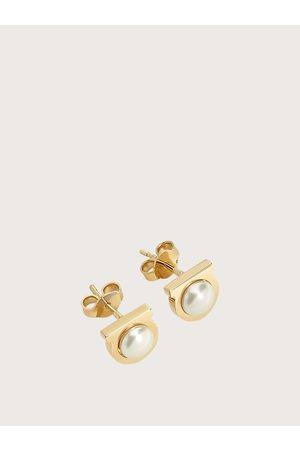 Salvatore Ferragamo Women Gancini pearl earrings