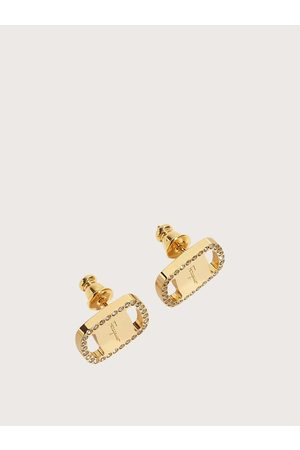 Salvatore Ferragamo Women Large Vara Plate Earrings