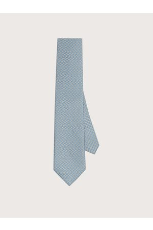 Salvatore Ferragamo Men Silk tie with printed Gancini