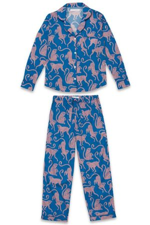 Desmond & Dempsey Chango Monkey Long-Sleeved Pyjama Set
