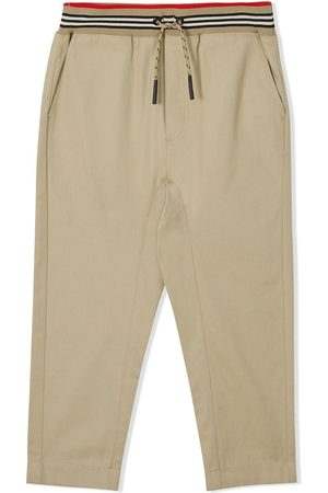 Burberry Striped waistband trousers - HONEY