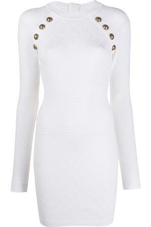 Balmain Button knit dress