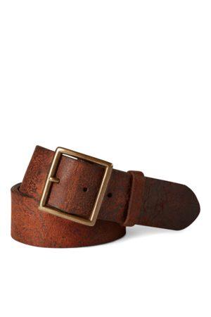 RRL Men Belts - Distressed Leather Belt