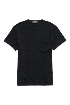 RRL Men T-shirts - Indigo Cotton Jersey T-Shirt