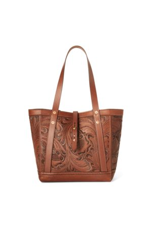 RRL Men Bags - Hand-Tooled Leather Tote