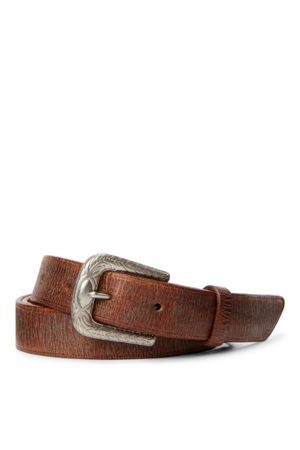 RRL Tumbled Leather Belt