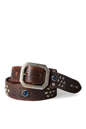 RRL Rasco Studded Leather Belt