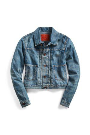 RRL Women Denim Jackets - Cropped Denim Jacket
