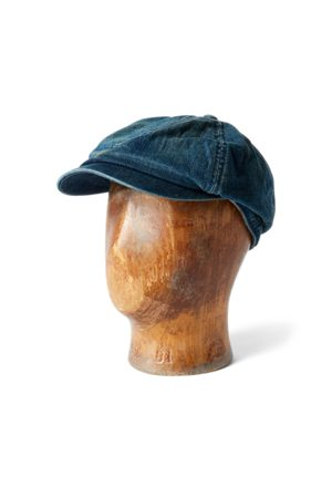 RRL Denim Newsboy Cap