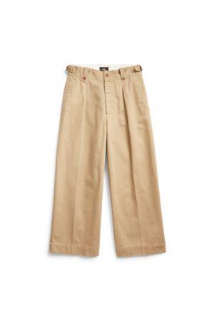 RRL Cropped Cotton Wide-Leg Trouser