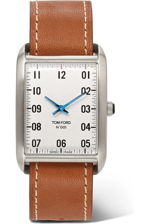 Tom Ford 001 Stainless Steel and Leather Watch