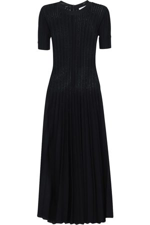 CASASOLA Pleated Viscose Blend Midi Dress