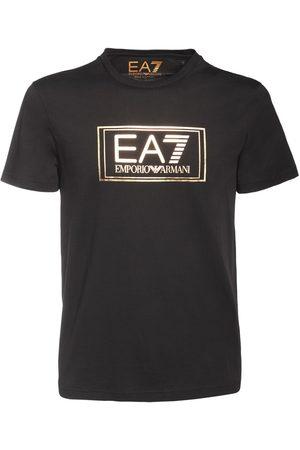 EA7 Logo Cotton Jersey T-shirt