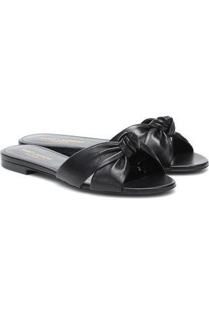 Saint Laurent Bianca leather slides