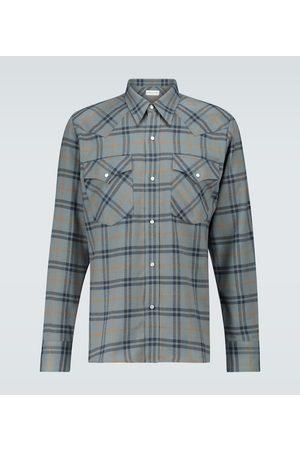 DRIES VAN NOTEN Men Casual - Checked flannel shirt