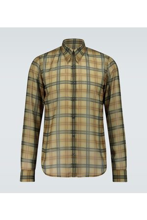 DRIES VAN NOTEN Long-sleeved checked shirt