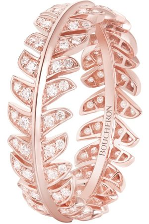 Boucheron Rose Gold and Diamond Nature Triomphante Ring