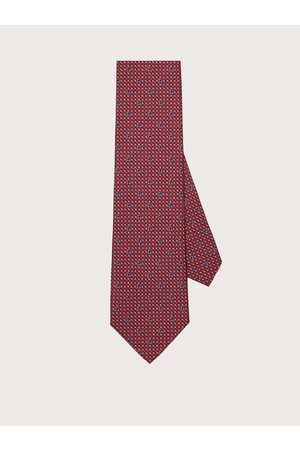 Salvatore Ferragamo Men Silk tie with printed Gancini /