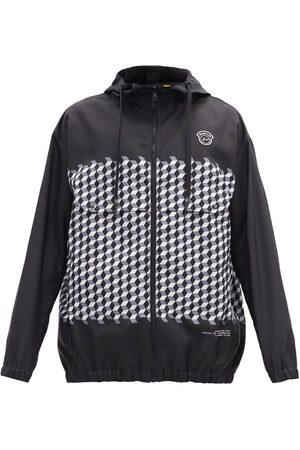 7 MONCLER FRAGMENT Men Jackets - Kaplan Hooded Tile-print Windbreaker Jacket - Mens