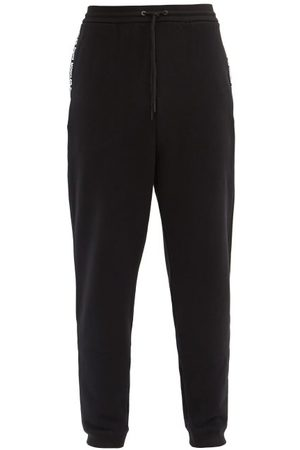 Moncler Men Trousers - Logo-tape Cotton-jersey Track Pants - Mens