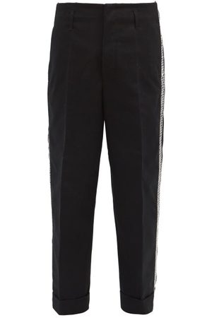 7 Moncler Fragment Geometric-embroidered Logo-print Trousers - Mens
