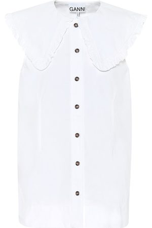 Ganni Cotton-poplin blouse