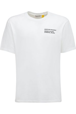 Moncler Genius Men T-shirts - Fragment Logo Cotton Jersey T-shirt