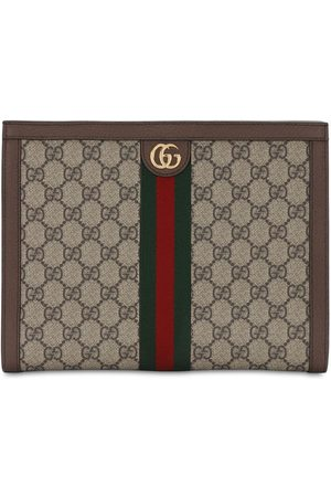 Gucci Ophidia Gg Supreme Squared Zip Pouch