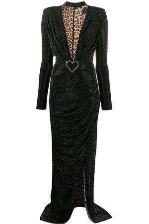Philipp Plein Aphrodite stud embellished asymmetric dress