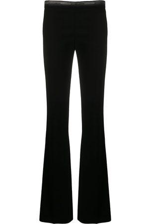 Gianfranco Ferré 1990s logo waistband flared trousers